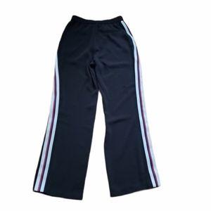 Zara Basic Black Stripe Hi Rise Wide Leg Pants Sm